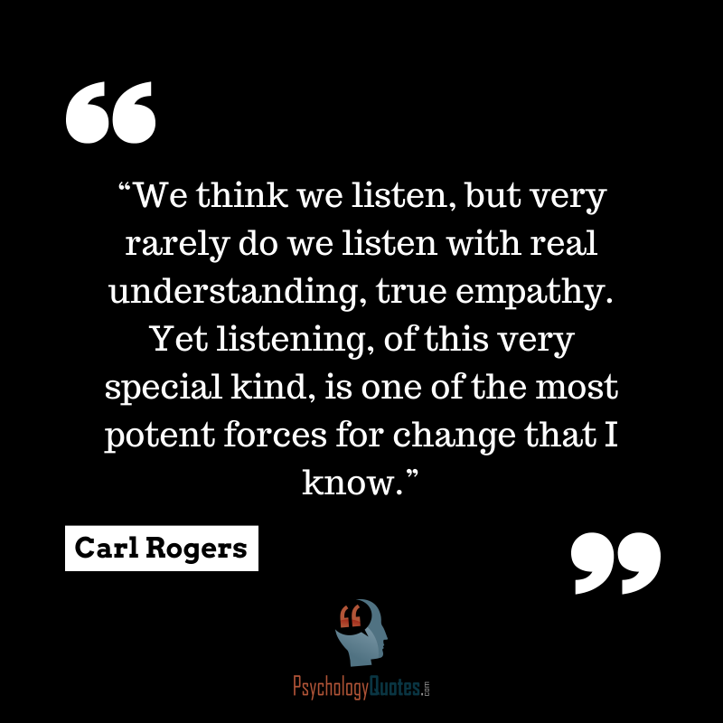 We think we listen... - Psychology Quotes