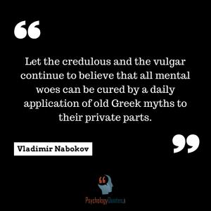 Vladimir Nabokov psychology quotes